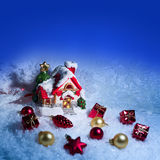 Christmas tree with baubles Stock Photo