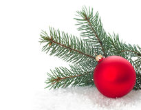 Christmas tree with baubles Royalty Free Stock Photo