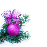 Christmas tree with baubles Royalty Free Stock Photography
