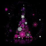 Christmas tree beautiful Stock Image