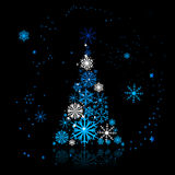 Christmas tree beautiful Royalty Free Stock Photography