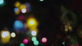 Christmas tree with beautiful bokeh. Christmas tree and beautiful bokeh with the camera moves to the slider stock footage