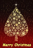 Christmas tree - beautiful greetings card Royalty Free Stock Photo