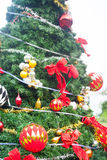 Christmas Tree On Beautiful Tropical Background Stock Photography