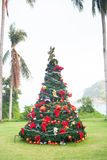 Christmas Tree On Beautiful Tropical Background Royalty Free Stock Photography