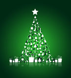 Christmas tree beautiful for your design Royalty Free Stock Photography
