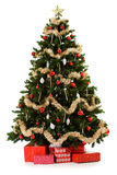 Christmas Tree Being Set Up In 16 Image Series Royalty Free Stock Photo