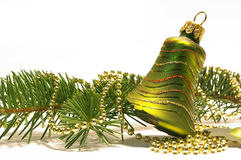 Christmas tree and bell Stock Images
