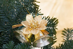 Christmas tree with bell Royalty Free Stock Photo