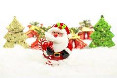 Christmas tree, bell, santa claus Royalty Free Stock Image