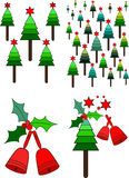 Christmas Tree And Bell Royalty Free Stock Photos