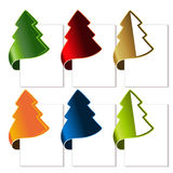 Christmas tree, bent tape Royalty Free Stock Images