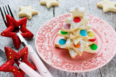 Christmas tree biscuit decorated colorful candy Royalty Free Stock Image