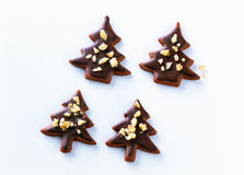 Christmas tree biscuits Royalty Free Stock Photos