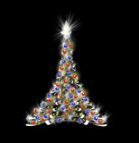 Christmas tree on black Royalty Free Stock Image