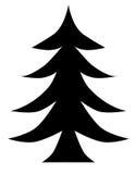 Christmas Tree Black Stock Photo