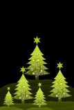 Christmas tree with black background Royalty Free Stock Image