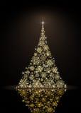 Christmas tree on black background Royalty Free Stock Photo
