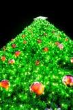 Christmas tree on black Stock Images