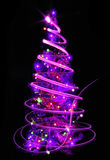 christmas tree on the black background Royalty Free Stock Photography