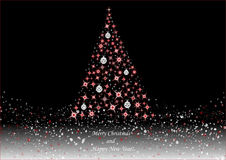 Christmas tree on black background Stock Image