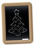 Christmas Tree Blackboard Retro Style Stock Photography