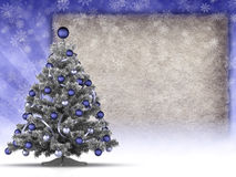 Christmas tree and blank copy space Royalty Free Stock Images