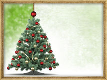 Christmas tree and blank space for text Stock Image