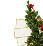 Christmas Tree with blanks for messages Royalty Free Stock Photography