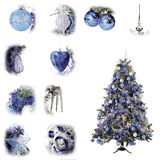 Christmas tree blue Royalty Free Stock Photo