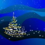 Christmas tree-blue Stock Photos