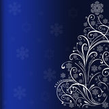 Christmas tree in blue. Royalty Free Stock Images
