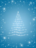 Christmas tree in blue 2 Royalty Free Stock Photos