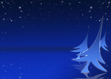 Christmas tree with blue background Royalty Free Stock Image