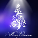 Christmas tree with blue background Stock Image