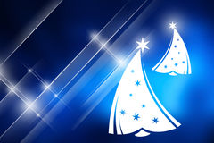 Christmas tree with blue background Royalty Free Stock Photo