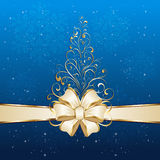 Christmas tree on blue background Royalty Free Stock Image