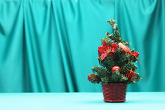 Christmas tree on blue background Royalty Free Stock Photo