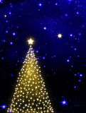Christmas tree on blue background. Stock Image