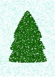 Christmas tree on a blue background Royalty Free Stock Photos