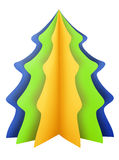 Christmas tree - blue-green-yellow Royalty Free Stock Photography