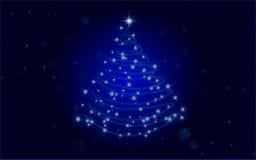 Christmas Tree Blue Royalty Free Stock Photo