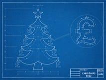 Christmas - Tree Blueprint. Shoot of the Christmas - Tree Blueprint Stock Photos