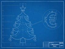 Christmas Tree - Blueprint Stock Photography