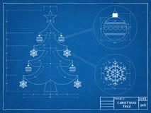Christmas Tree Blueprint Royalty Free Stock Image
