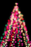 Christmas tree in blur Royalty Free Stock Image