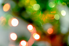 Christmas tree blur bokeh background Royalty Free Stock Photography