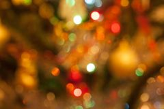 Christmas tree with blur effect. Traditional holidays Royalty Free Stock Photography