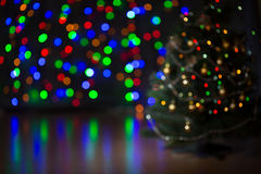 Christmas tree blurred background Stock Photos