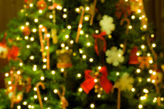 Christmas tree blurred background Royalty Free Stock Image
